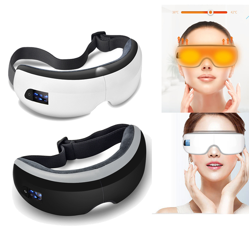 Smart Bluetooth Music Eye Massager Air Pressure Hot Compress Dark Circles Remove Magnetic Far infrared Protect