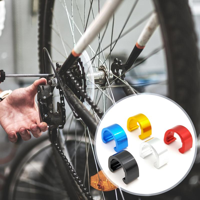 10Pcs MTB Bike Bicycle Frame U Buckle For Brake Cable Housing Hose Tube Shifter Cable Guides Button Fixed Tubing Clips in Cables Housing from Sports Entertainment