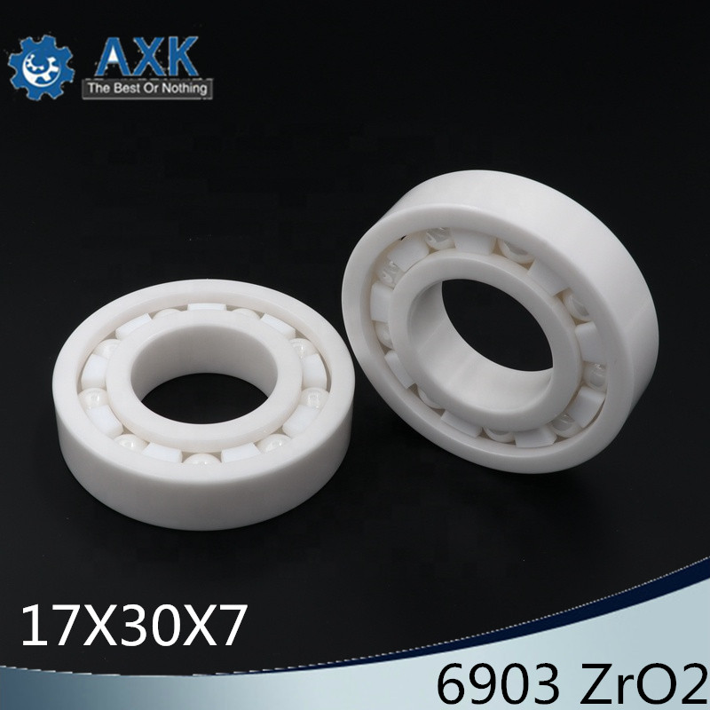 6903 Full Ceramic Bearing ( 1 PC ) 17*30*7 mm ZrO2 Material 6903CE All Zirconia Ceramic 6903 Ball Bearings