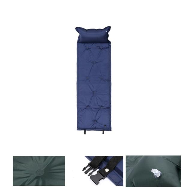 Self Inflating Camping Roll Mat Sleeping Bed Inflatable Pillow Mattress 1