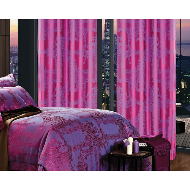 Dolce Mela DMC461 Window Treatment Damask Drapes Cliodna Curtain Panel