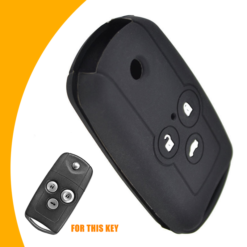 Leather Remote Key Fob Case Cover For Acura CDX TLX RLX RDX MDX 2//3//4 buttons