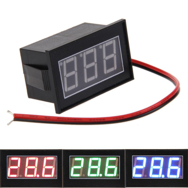 V56d Waterproof Dc2.50-30v Voltmeter Rgb Led Digital Display Potting Chills And Pains Measurement & Analysis Instruments