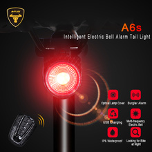 ANTUSI Remote Control Bike Tail Light USB Rechargeable Smart LED Waterproof Bicycle Light Rear Cycling Safety Warning Lumen Lamp motorcycle signal lamp rechargeable cycling light 5000 lumen 8 4v bicycle bike led front rear lamp set