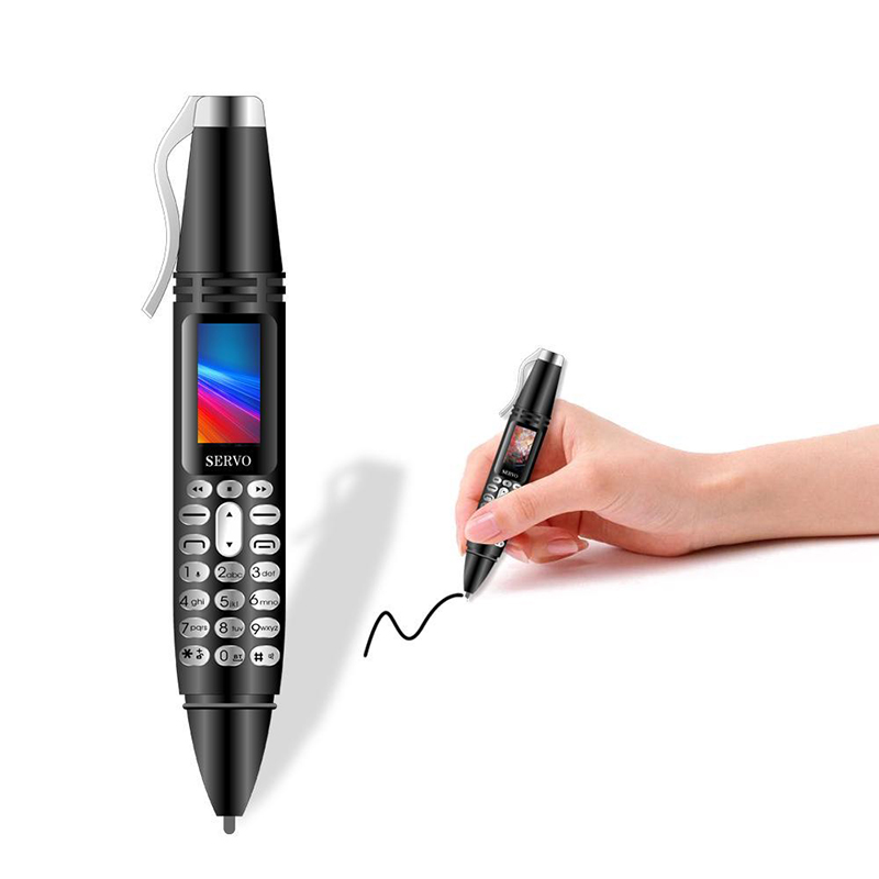 Mini téléphone portable stylo minuscule écran GSM double SIM caméra lampe de poche Bluetooth Dialer téléphones mobiles avec stylo d'enregistrement K07 0.96 pouces
