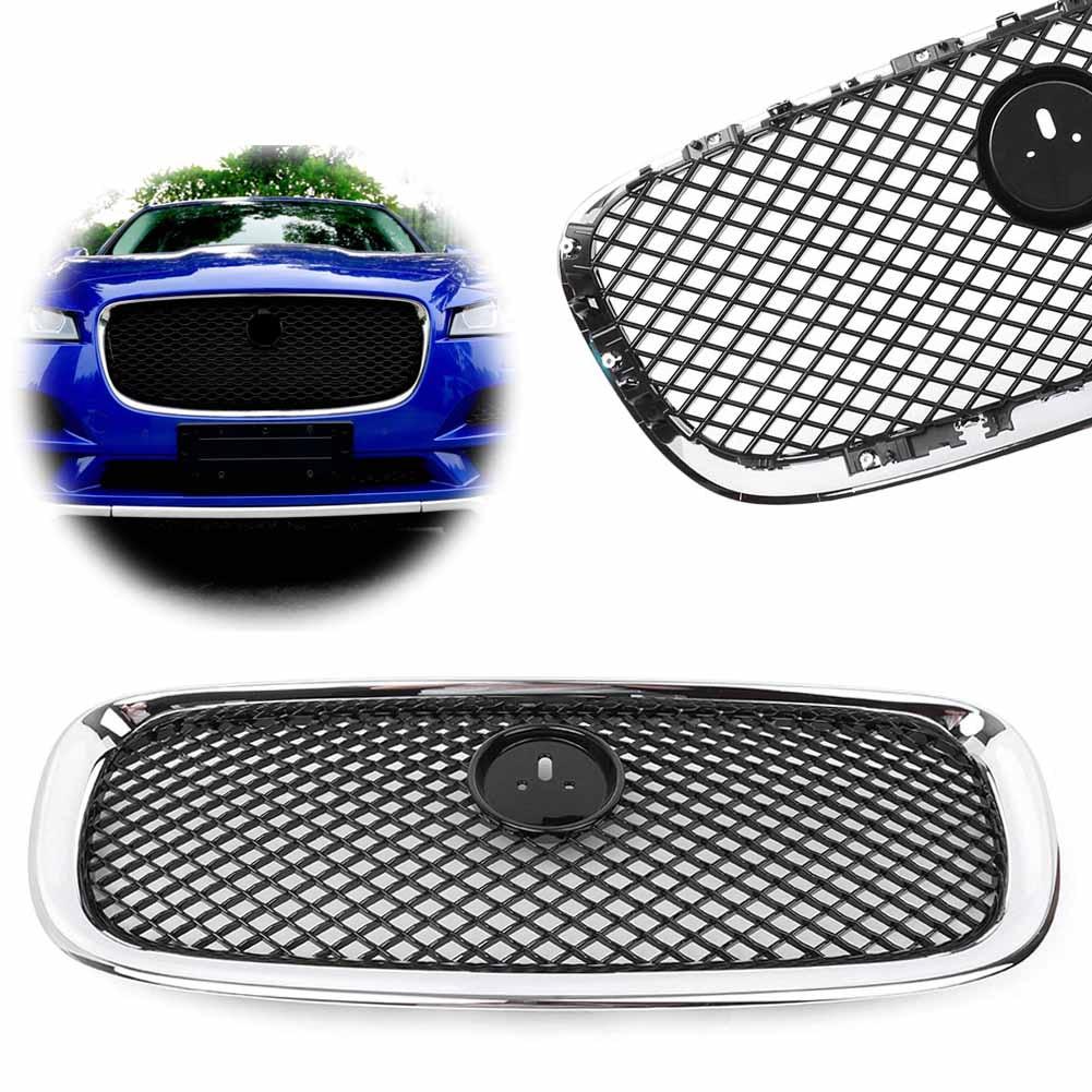 Car Front Bumper Upper Mesh Grille Grill for Jaguar XF XFR 2012 2013 2014 2015 Chrome