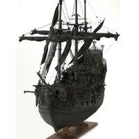 DIY ручной сборки от Black Pearl, пиратский корабль с светодиодный свет 1:41 весы деревянные парусные лодки модель здания комплект для детей