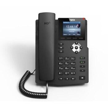 Tela Colorida X3S entry-level 2 linhas sip Telefone IP Suporta EHS fone de Ouvido Sem Fio HD Voz SOHO voip telefone