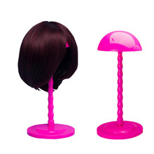3 Colors Portable Folding Wig Stand Holder Multi-Purpose Use Wig Hat Display Plastic Wig Dryer Salon Travel For Women(China)