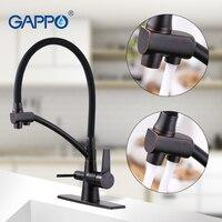Gappo кухонный кран 3 способа воды фильтры для раковины кран черный медный кухонный миксер кухня выложенный кран кухонный кран латунный смеси