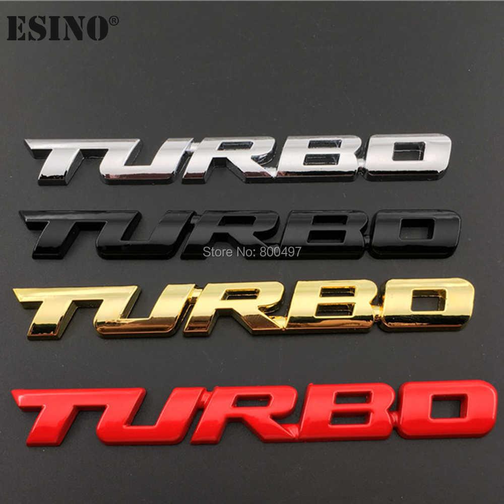 ใหม่รถจัดแต่งทรงผมรถ Turbo Boost โหลด Boosting 3D โลหะ Chrome Zinc Alloy 3D Emblem Badge สติกเกอร์รูปลอก Auto อุปกรณ์เสริม