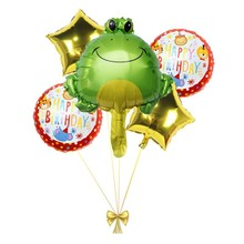 5pcs Large Frog Lot Foil Balloons Animal Party Decoration Kids Babyshower Boy And Girl Birthday Decor Childrens Toy