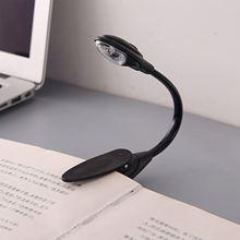 купить Mini Flexible Clip-on Bright Booklight LED Travel Book Reading Lamp White Light book holder small table lamp light small дешево