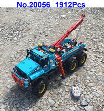 20056 1912pcs technic ultimate all terrain 6x6 remote control rc truck electric building block compatible 42070 toy(China)