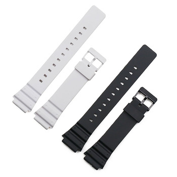 Resin strap men's pin buckle watch accessories sports waterproof strap for Casio MRW-200H W-752 w-s210H W-800H W-735H watch band casio w s210h 1a