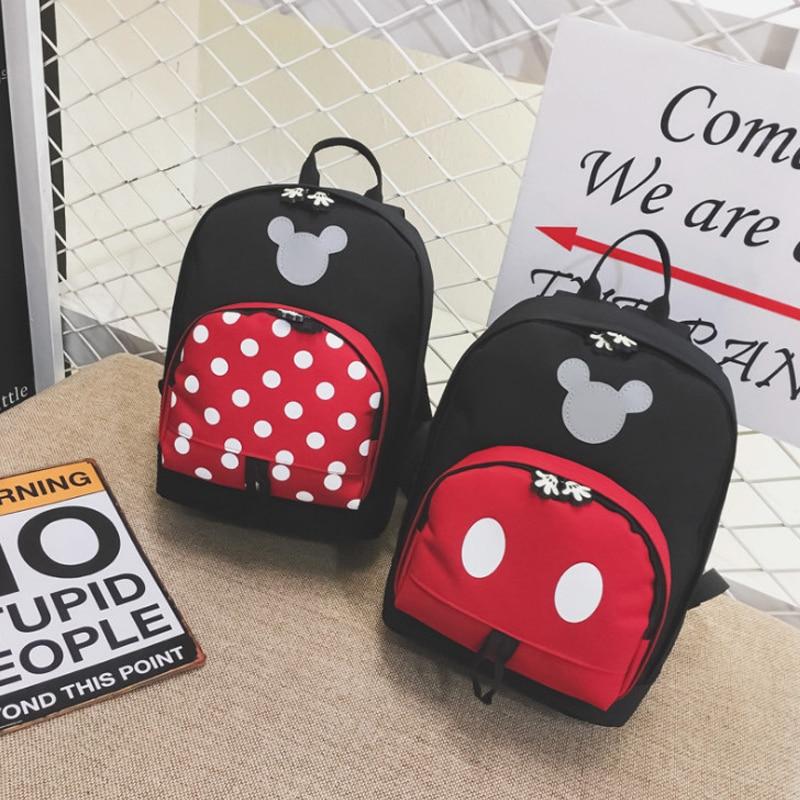 Disney 2019 New Mickey Mouse Backpack Kids Girls Boy School Bag Cute Children Backpacks Polyester Kindergarten Cartoon Bags in Plush Backpacks from Toys Hobbies