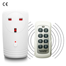 UK Wireless RF 433MHz Intelligent Smart AC Electrical Power Socket Outlet W/ Remote Control Switch Plug Adaptor Adapter 10A 250V цена 2017