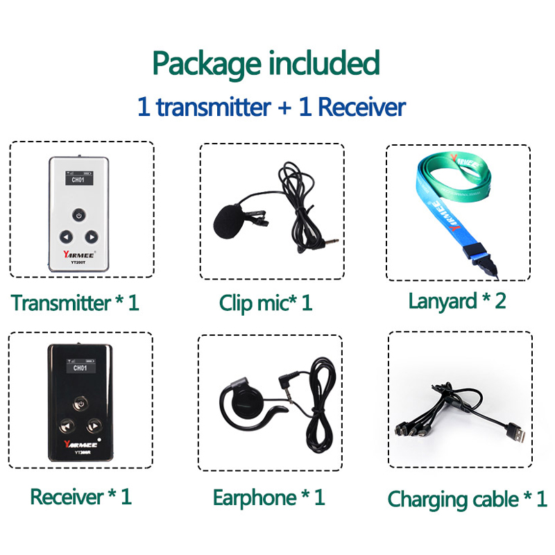 (1T+1R) YARMEE YT200 Sample, Wireless Tour Guide System for Museum Tour Guide Audio Guide