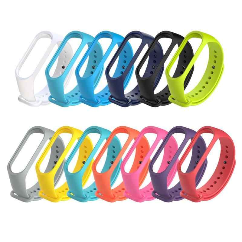 Smart Band Belt Strap Replacement for Xiaomi Miband 3 Watch Silicone 220mm Wriststrap Band Colorful Smart Wriststrap Watch Band