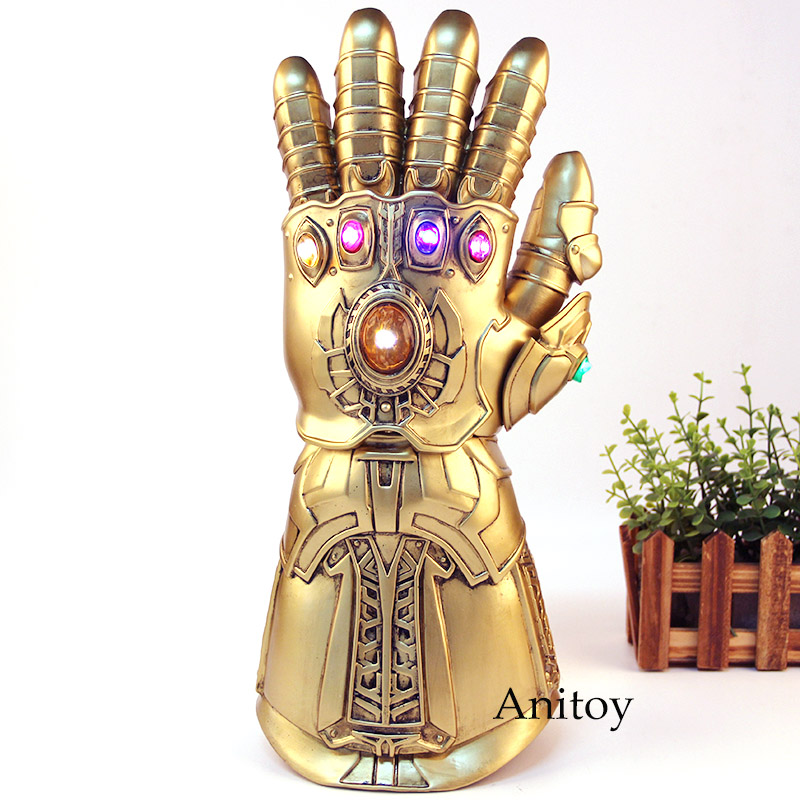 The Avengers Thanos Glove Thanos Infinity Gauntlet Glove Cosplay 1:1 with LED Light PVC Action Figure Collection Model Toys