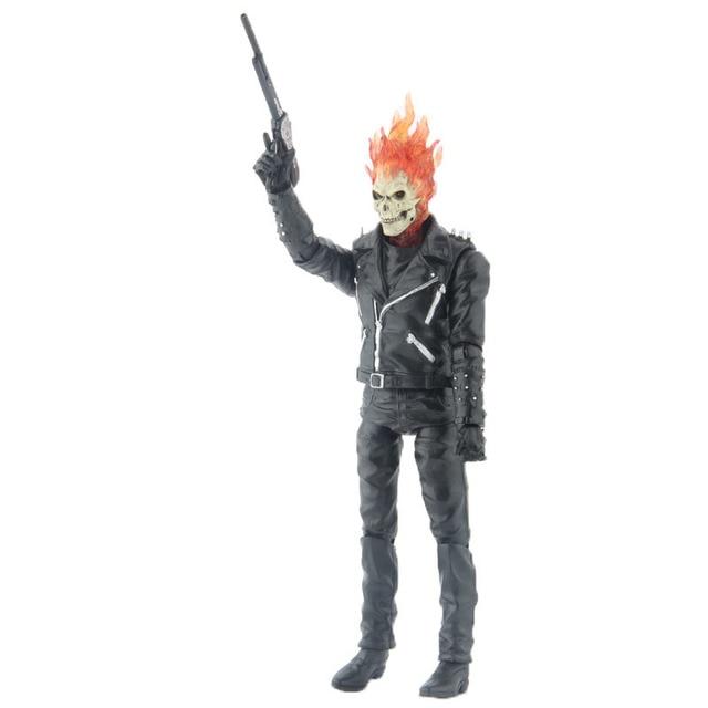 Maravilha Ghost Rider Johnny Blaze Ação Pvc Figura De Brinquedo Modelo Coleção 23 Cm