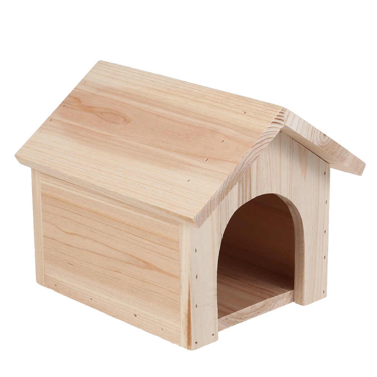 1Pc di Casa In Legno resistente Al Calore di Pino Domestico Cincillà Squirrel Nido Stazione di Alimentazione Forniture Per Animali Da Compagnia Seduta Accantonare