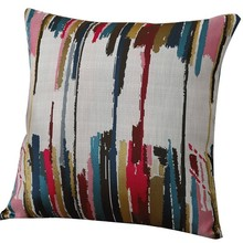 LM  Color Striped Cotton Hug Pillowcase Square Decorative Pillowcases For Bench Couch 45 X 45cm 18inch