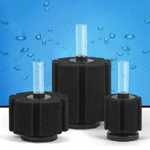 1pc Aquarium Filter Fish Tank Air Pump Skimmer Biochemical Sponge Filter Aquarium Filtration Filter Aquatic Pets Fish Products aquarium double head biochemical sponge filter
