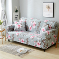 1/2/3/4 Peony Seater Sofa Funiture Cover Chair Couch Protect Loveseat Slipcover All-inclusive Slip-resistant sofa cover