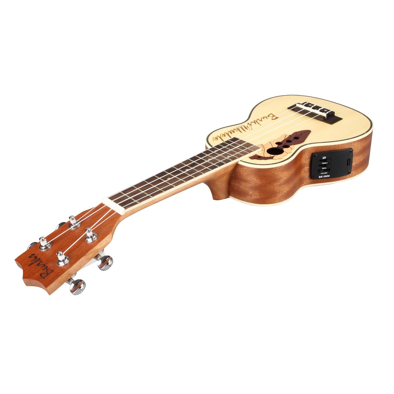 Ukulélé acoustique de ukulélé d'épicéa de Concert avec le Kit intégré de ukulélé de ramassage d'eq - 4