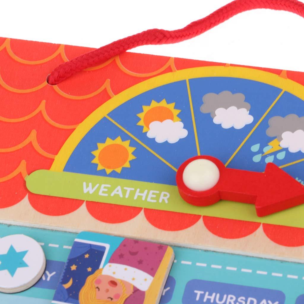 Conseil de responsabilité de récompense magnétique en bois avec des anniversaires de saison météo cadeau jouets éducatifs pour enfants enfants - 5