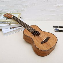 4 Strings Mahogany Guitar 23 Inch Soprano Ukulele Beginner Rosewood Fretboard Bridge For Musical Stringed Instruments 23 inch concert ukulele 4 strings hawaiian guitar rosewood fretboard mahogany body ukelele wholesale oem 2 colors for available