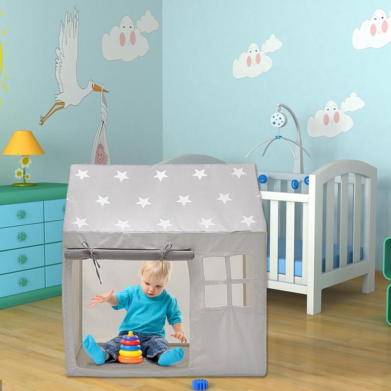 Tente pour enfants mignon princesse château jouer maison bébé intérieur confortable grande maison lecture Angle extérieur jouet tente