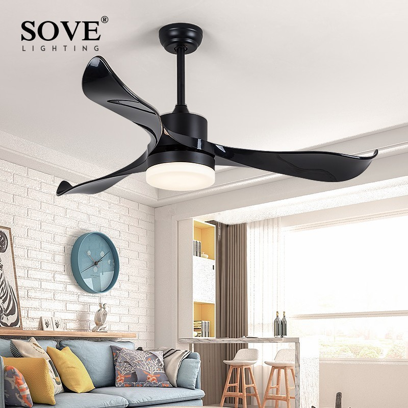 Ceiling Lights & Fans Ceiling Fans Solfart Ceiling Fan Dining Fan Blade Plastic Modern Room Fan Ceiling Fan With Remote Control Safe And Mute Black Leaves Slf9103 Outstanding Features