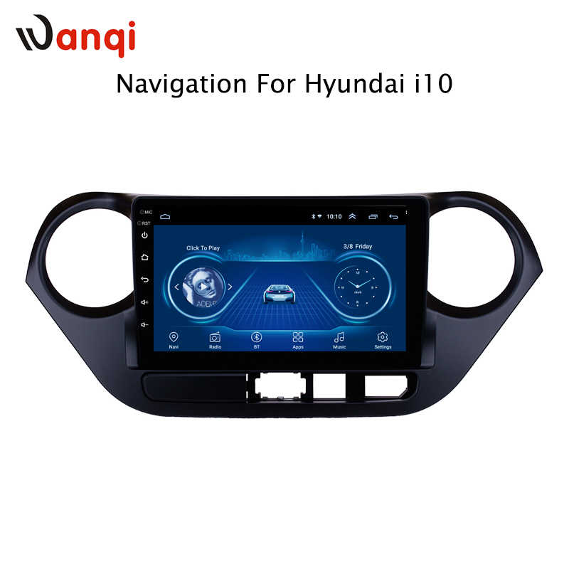 9 inch Android 8.1 full touch screen auto multimedia systeem Voor Hyundai i10 2013-2016 auto gps radio navigatie
