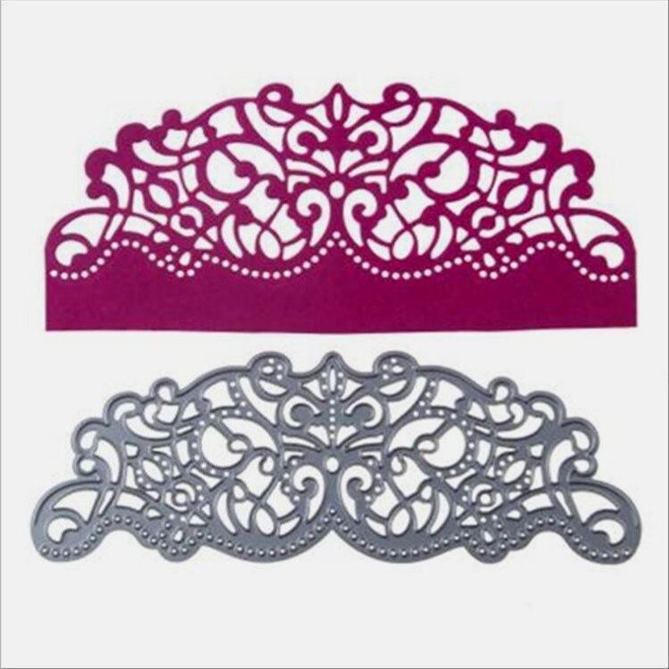 Envelope Lace Metal Cutting Dies Flowers DIY Scrapbooking Photo Album Decorative Embossing Paper Card Craft  Embossing