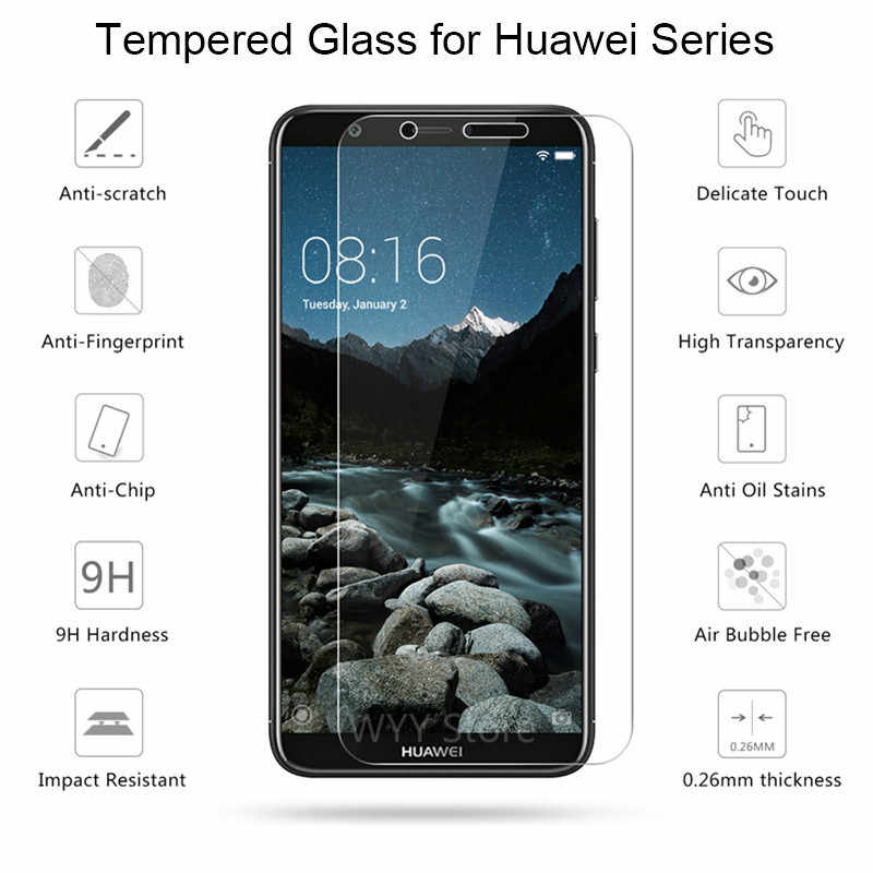 9H Tempered Glass for Huawei Y5 ii Y6 Pro 2017 Y3 2018 Y7 Prime Screen Protector for Huawei P Smart Plus Glass on for Y6ii Y3 ii