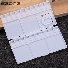 EZONE 25 Grids Palette Pigment Box Painting Tools Palette For Gouache White Multi-function Palette Painting Drawing Supply tanie tanio Z tworzywa sztucznego 3 lat Rectangle 20 5*10 5*1 5cm WJ5868 School Office Supply Children Kids Christmas Gifts High Quality Students Stationery