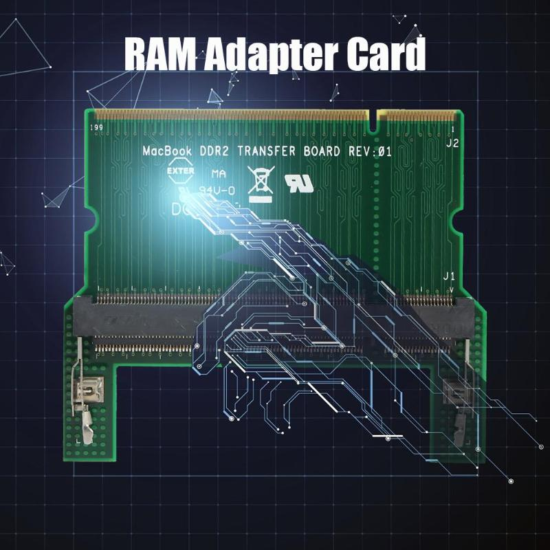 Double-sided Chip DDR2/DDR3 RAM Adapter Card Laptop SO DIMM To Desktop DIMM Adapter Memory Dual Channel Support