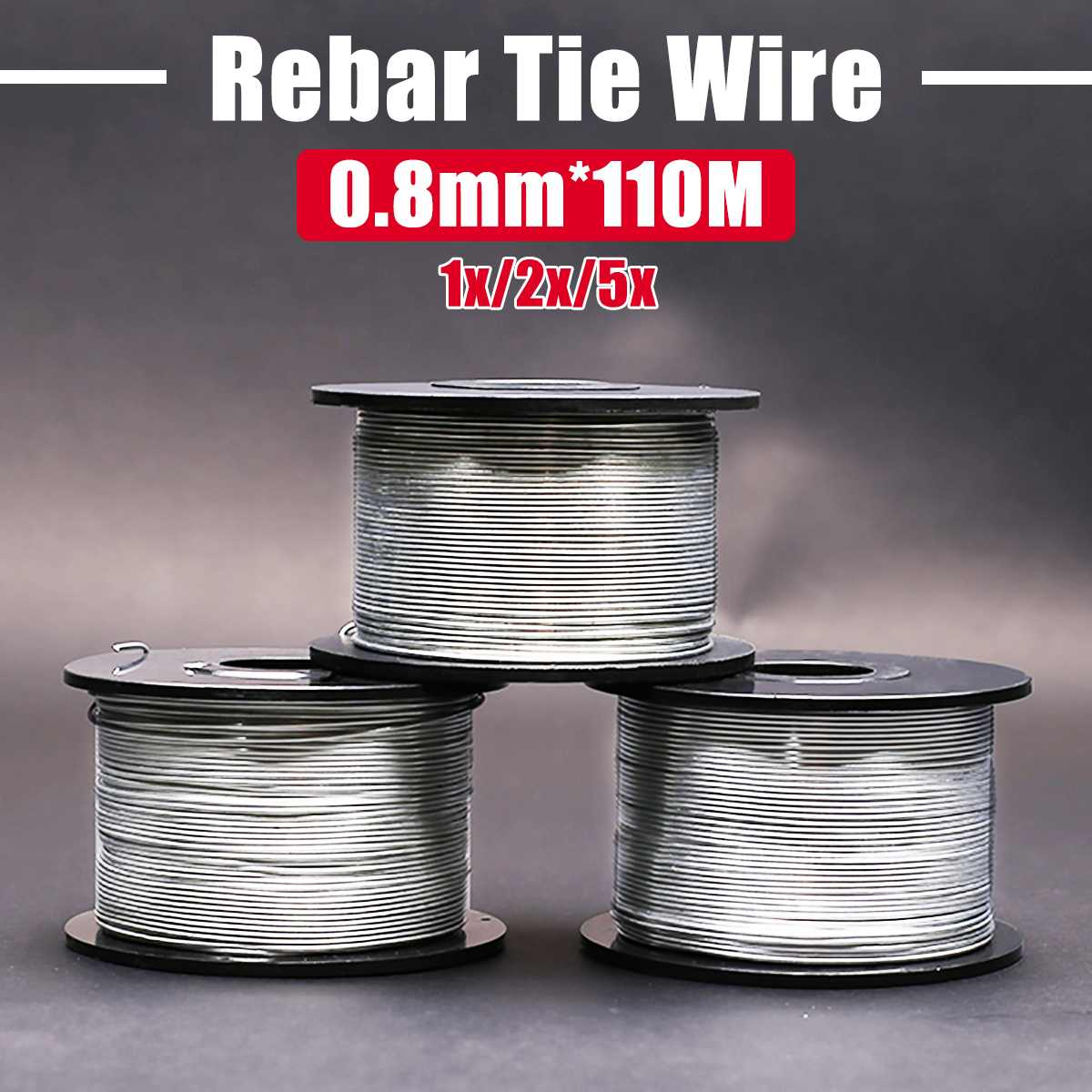 1/2PCS 110M 0.8mm Steel Tie Wire Coil Antirust For Automatic Rebar Tying Machine New Arrival