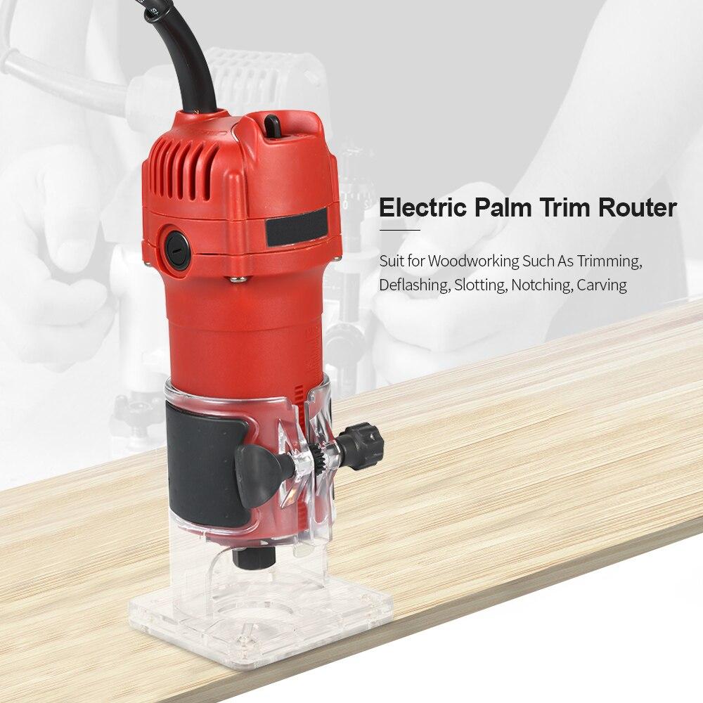 850W 30000rpm tondeuse électrique à bois fraisage gravure Machine de découpage à rainurer main sculpture Machine bois routeur - 5
