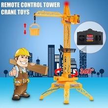 1: 64 кран с дистанционным управлением для мальчиков, Радиоуправляемый башенный кран с дистанционным управлением, строительная площадка, игрушечный автомобиль