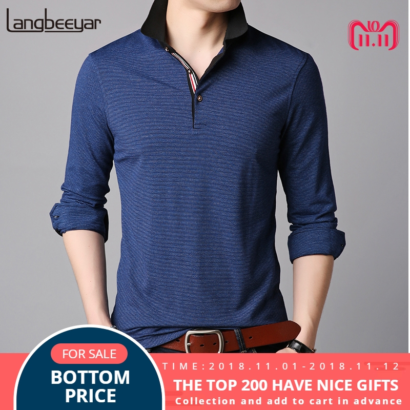 b1c9f69d ... t-shirt 2018 New Fashion Brand Polo Shirts Men Solid Color Brands  Designer Slim Fit Long Sleeve Boy Boys Polos Casual Men's Clothing. -41%.  Click ...