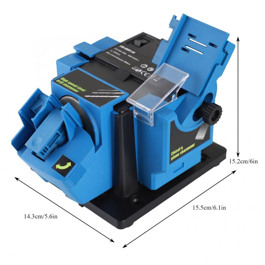 Image 5 - 3 In 1 Multifunction Electric Knife Sharpener Drill Sharpening Machine Knife & Scissor Sharpener Household Grinding Tools EU/US-in Sharpeners from Home & Garden