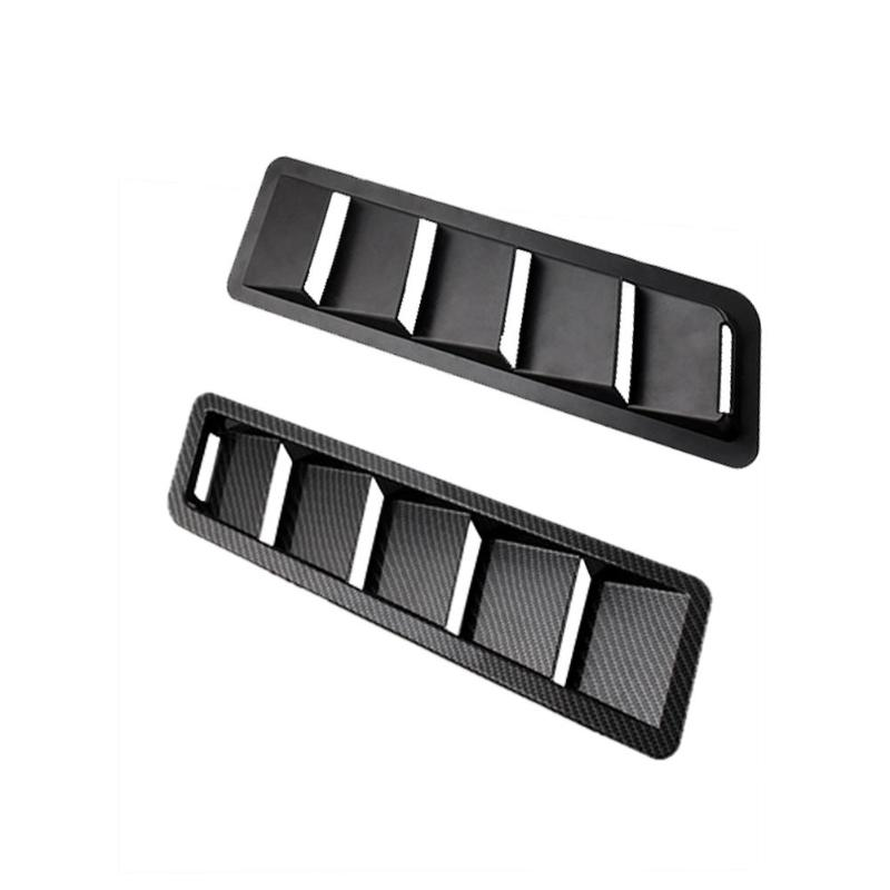 1 Pair Universal Hood Vent Louver ABS Bonnet Cooling Panel Trim Heat Dissipation Auto Car Hood Vent For Engine Hood Intake Panel1 Pair Universal Hood Vent Louver ABS Bonnet Cooling Panel Trim Heat Dissipation Auto Car Hood Vent For Engine Hood Intake Panel