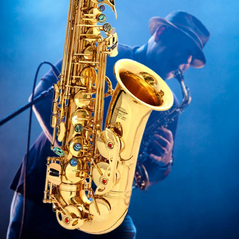 LAIIMAN exclusivo Requintados Novos Orchestral Instrumento Saxofone Baixo E-chave Alto Sax alto Adicionar Trompete Boca Grosso Chave profissional