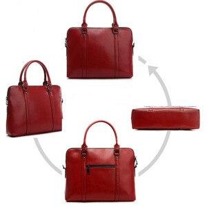 Image 3 - Cowhide Handbag For Women Luxury Shoulder Crossbody Bags Womens Office Messenger Bag Ladies Handbags Sac A Main Bolsos Mujer