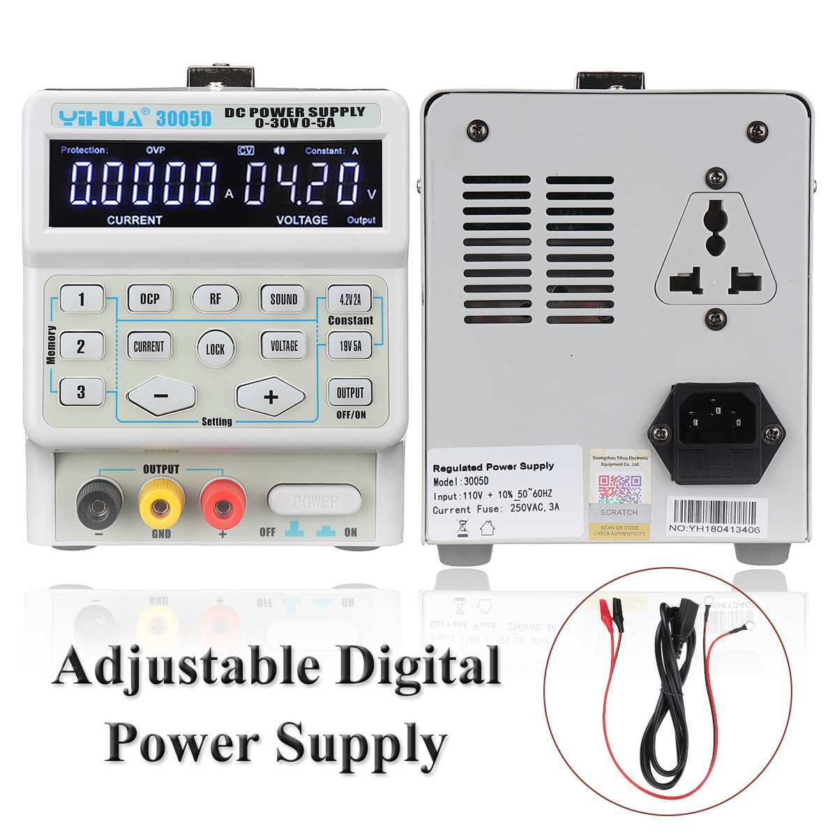<font><b>30V</b></font> <font><b>5A</b></font> Programmable Laboratory Switching DC <font><b>Power</b></font> <font><b>Supply</b></font> 110V / 220V Variable Dual Digital <font><b>Power</b></font> <font><b>Supply</b></font> image