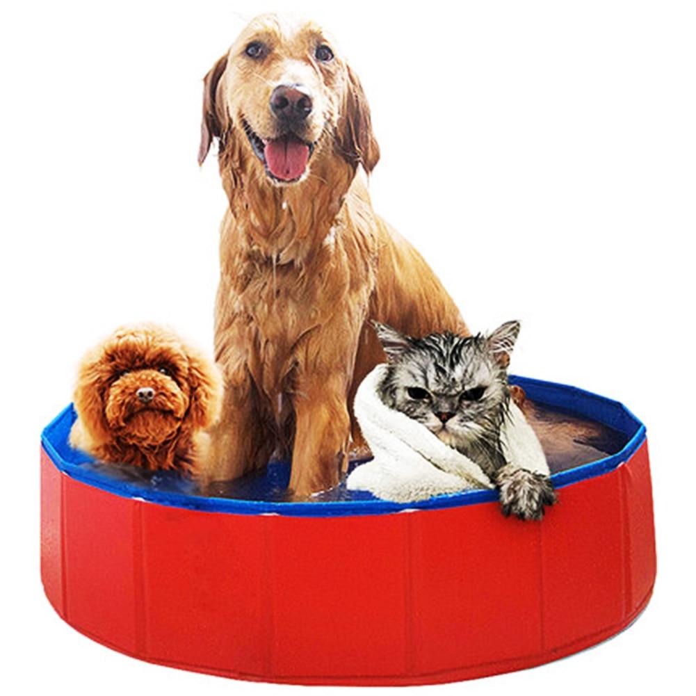 1Pcs PVC Pet Dog Cat Folding Bath Tub Dog Swimming Pool Quality Stable And Durable Pet Animals Cat Dog Supplies Z20