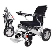 2019 fauteuil roulant électrique pliant léger d'alliage d'aluminium de mode, peut supporter 180 KG